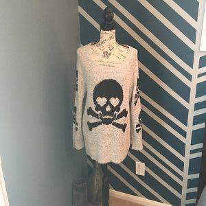 Torrid Skeleton Gray Sweater